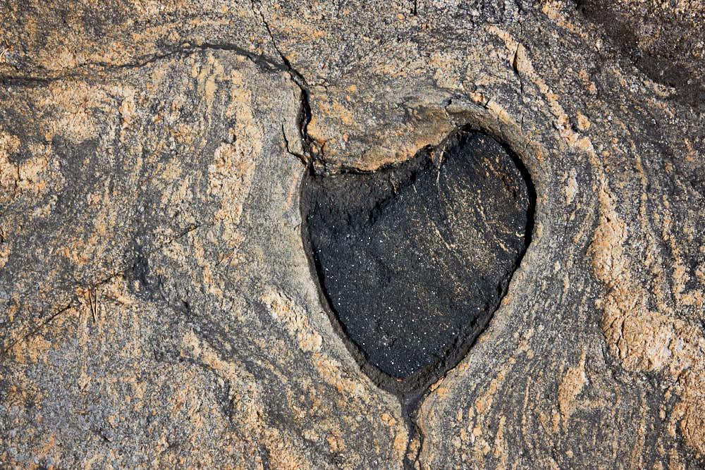 Stein, Herz, Naturfotografie von olbor Oliver Borchert aus Schwerin